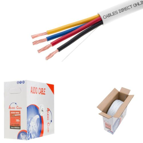 100 ft In Wall 16//4 16AWG Gauge 4 Conductor Speaker Wire Cable CL2 Bulk 100ft