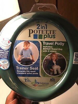 Kalencom Potette Plus 2-in-1 Travel Potty Trainer Seat Camo-Green