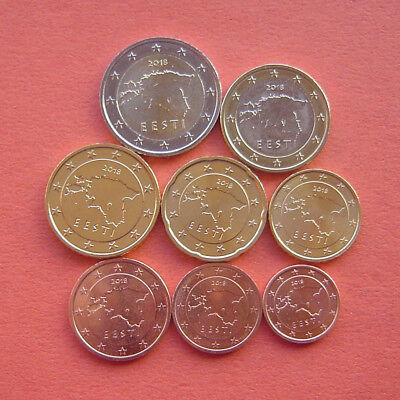 : 1 cent Spain euro full set 8 coins 2 euro 2015 UNC