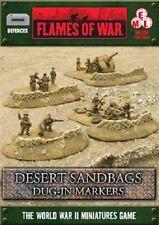 Flames of War: Desert Sandbags - Dug-in Markers BB109