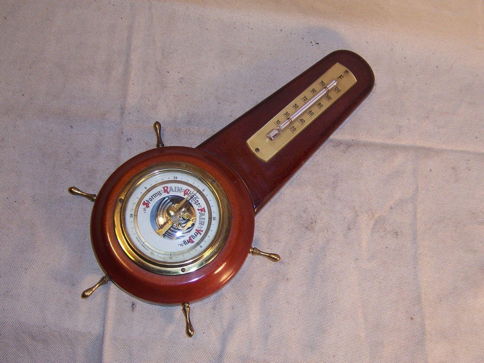 Vintage Barómetro Y Termómetro combinación Hecho En Alemania