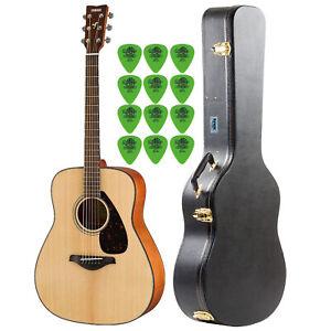 Yamaha FG800 Acoustic Guitar with Knox Guitar Case & Guitar Picks (12-Pack)