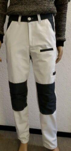 Malerhose Herren Bundhose Arbeitshose Canvas weiß grau Hose Malerbekleidung