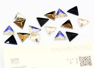 SWAROVSKI Crystal 3270 Triangle All colours Sew On Stone