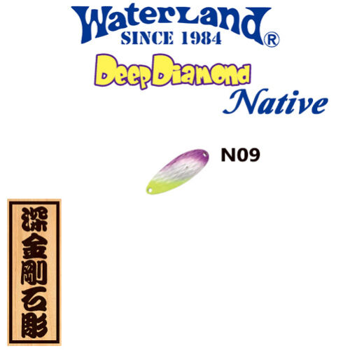Assorted Colors WATER LAND DEEP DIAMOND NATIVE 15 g Trout Spoon