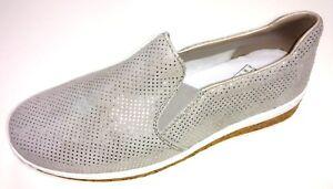 Details zu Rieker Antistress Damen Schuhe Halbschuh Slipper Ballerina N5160 42 grau Leder