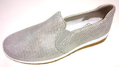 Rieker Antistress Damen Schuhe Halbschuh Slipper Ballerina N5160 42 grau Leder | eBay