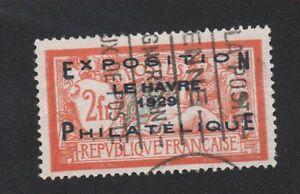 FRANCE-N-257a-2-f-merson-exposition-philatelique-le-havre-oblitere