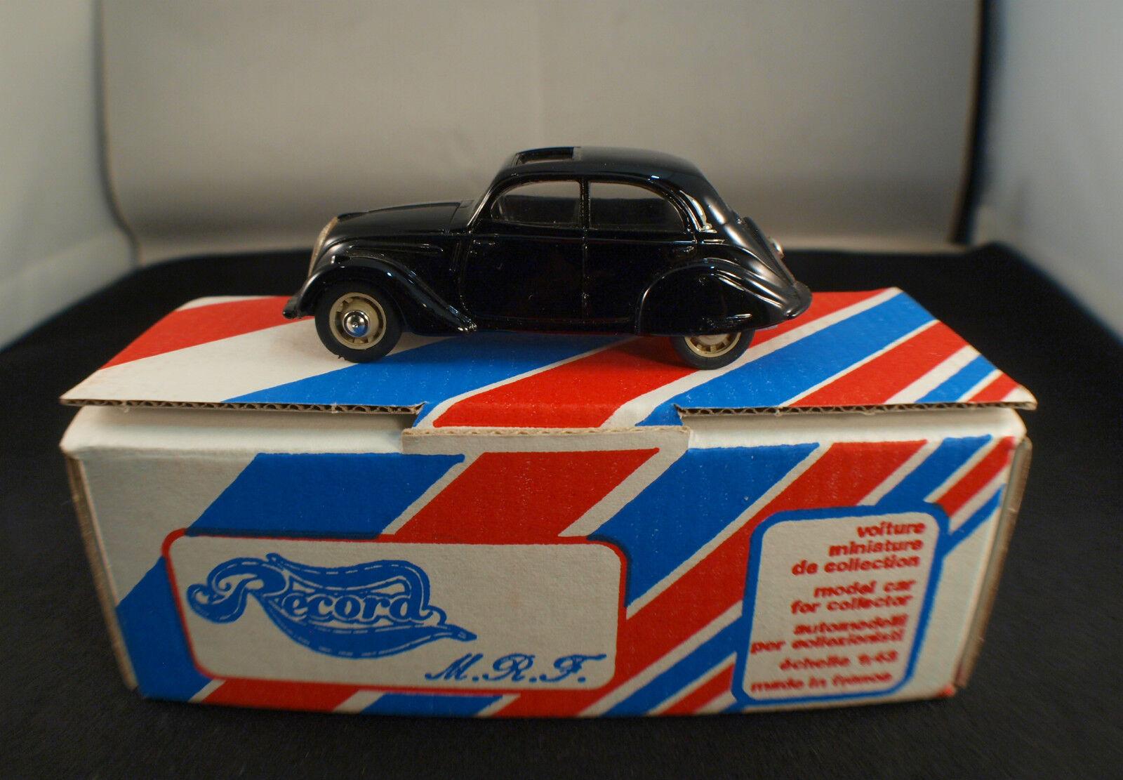 Record F Peugeot 202 Berline 1939 en boite Kit monté 1 43