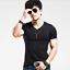 Mens Slim Casual Tops T-Shirt Short Sleeve V-Neck Slim Muscle Shirts Tee Blouse