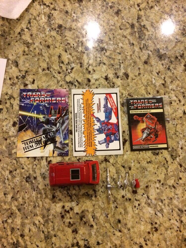Transformers Generation 1 G1 Ironside Near Mint Complete