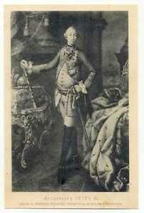 Russian Czar Peter III Old Portrait Lithography