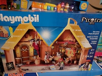 Playmobil #9112 Take Along Pirate Stronghold New Factory Sealed