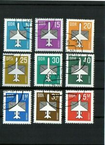 DDR-FRANCOBOLLI-tasso-POSTA-AEREA-1982-PUNZONATO
