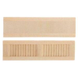 Set-of-2pcs-1-12-Dollhouse-Wooden-Shutters-DIY-Window-Furniture-Accessories-B7F1