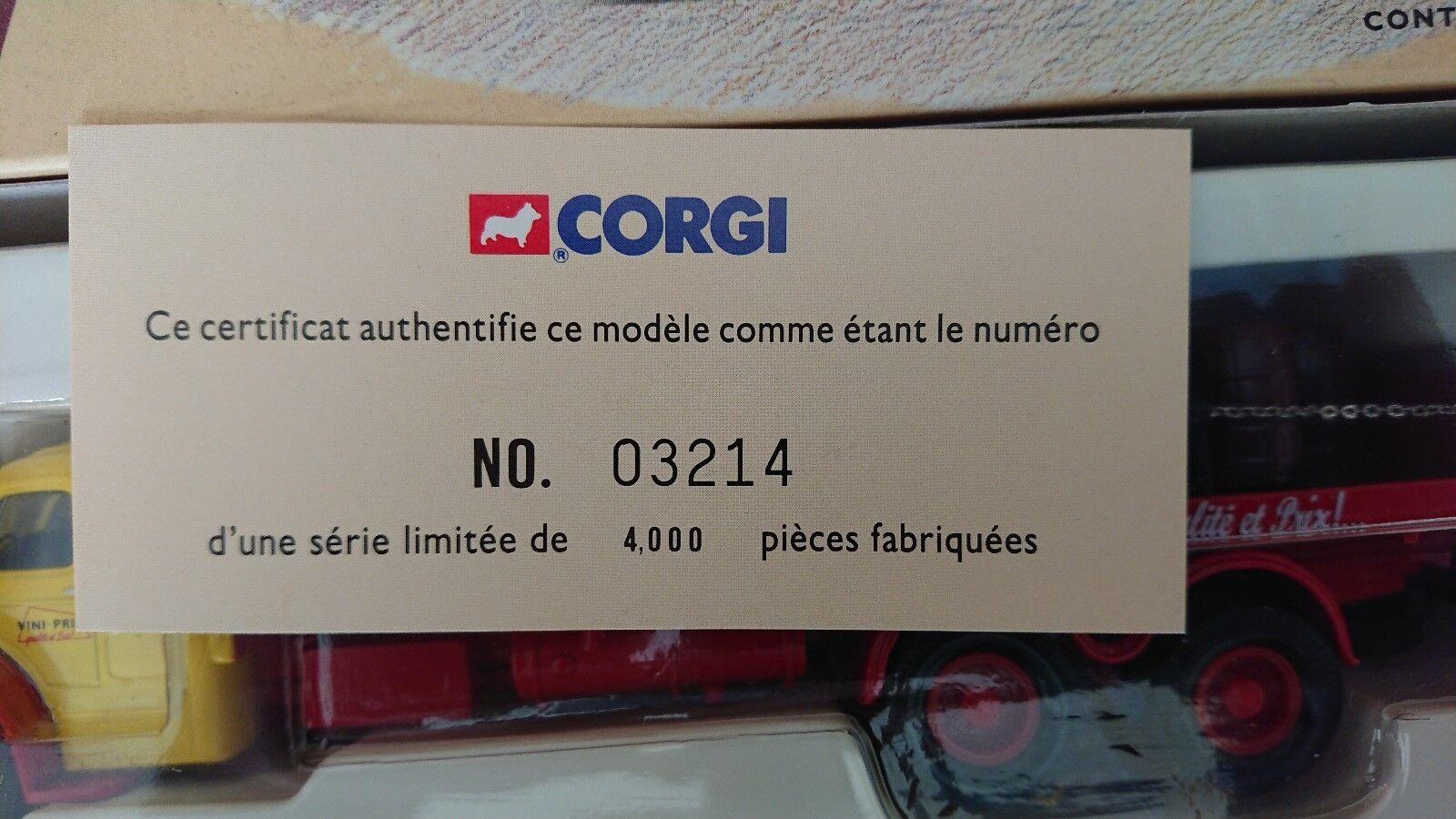 Corgi 73101 Berliet GLR8 Brasseur VINI-PRIX Ltd Edit Edit Edit No. 3214 of 4000 58e245