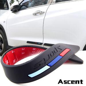 2x Rubber Front Rear Bumper Corner Guard Sticker Scratch Protector Strip Black T
