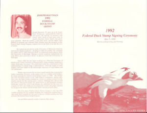 RW59-Souvenir-15-00-1992-1993-Federal-Duck-Stamp-First-Day-Prog-w-o-stamp-FDC