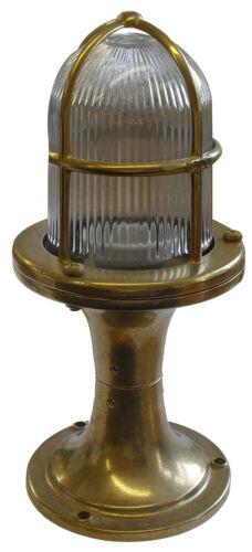 OTTONE massiccio Illuminazione Esterna Post//Luce Piedistallo completa di 6 Watt Lampada a LED