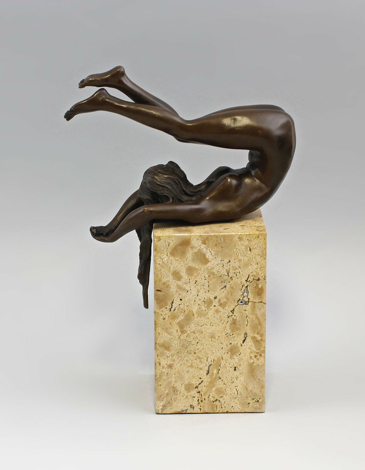 9937929 acte bronze sculpture personnage nue gymnaste acte 9937929 érotique 27x10x19cm 0f2362