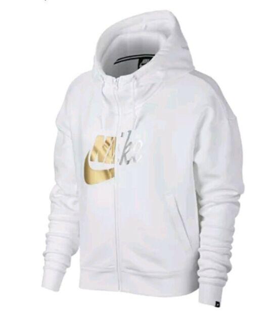 nike rally yellow swoosh logo hoodie