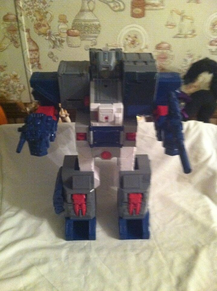 G1 FORTRESS Maximus 98% COMPLETO, PEARLY BIANCO unstickerosso VINTAGE Transformers