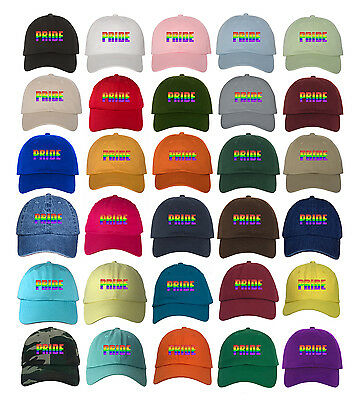 Many Styles Rainbow Pride Embroidered Dad Hat Baseball Cap