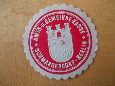 Süß GehäRtet Siegelmarke Amts-und Gemeindekasse Schmargendorf-berlin 15318