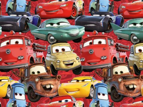 "Kinderstoff Jersey /"" Cars 3 /"" allover rot Disney"