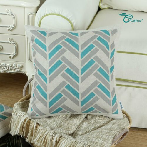 CaliTime Canvas Throw Pillow Cover Case for Couch Sofa Home Decoration Modern
