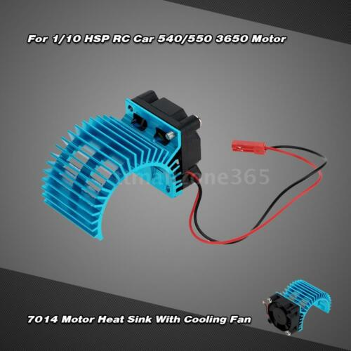 7014 Motor Heat Sink With Cooling Fan for 1//10 HSP RC Car 540//550 Motor Y2D9