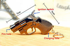 Mini key buckle Pistol Gun Windproof Cigar Cigarette Refillable Butane Lighter