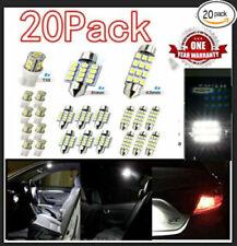 20pcs Combo Led Car Interior Inside Light Dome Map Door License Plate White T10