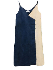 Iblossom Colorblock  Dress in beige and blue