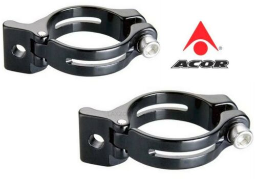 Acor Alloy Bicycle Front Mech Derailleur Clamp Black Braze-on 31.8mm 34.9mm