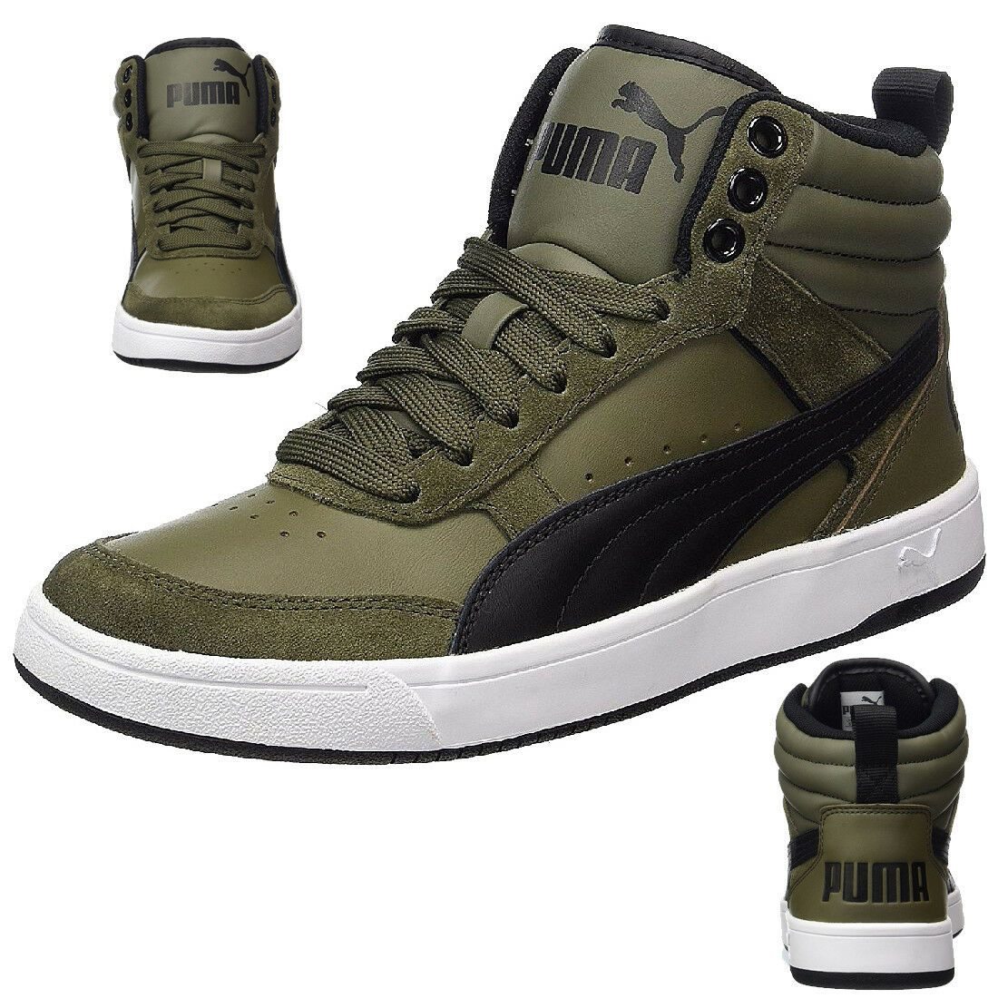 Puma Herren Rebound Street V2 Sneaker Herren Puma Zapatos olive 363715 04 af3c7e