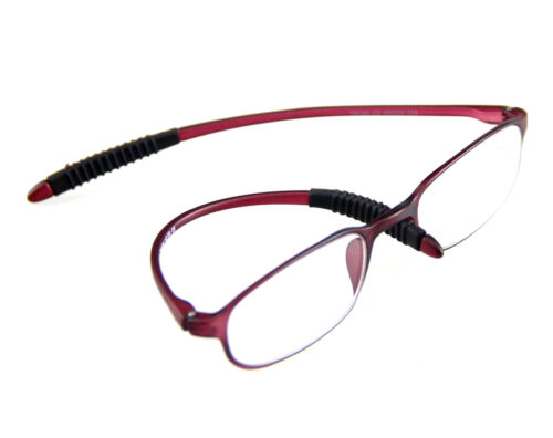 TR Flexible Rimmed Oval Clear Reading Glasses Ultra-Light 1.0-1.5~2.0~3.0~3.5
