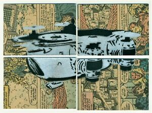 2012-AVENGERS-ASSEMBLE-4-PANEL-SKETCH-COLLAGE-CARD-HELICARRIER-by-UNKOWN-ARTIST