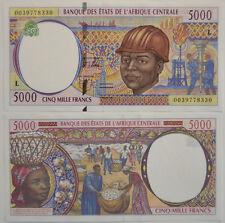 Central African St. / Kongo / Congo - 5000 ( l )  Francs 2000 UNC (B12)