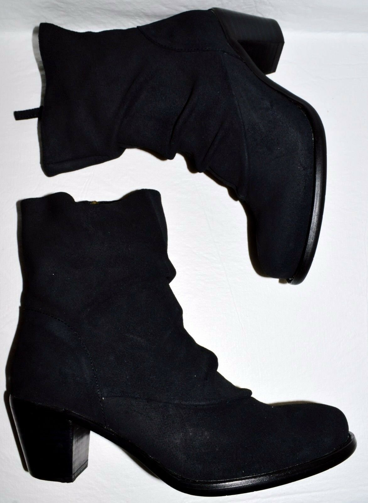 CORDANI CALZATURE UMBER NIB 310 SZ 6.5 M 37 BLACK SUEDE ANKLE BOOTS BOOTIES
