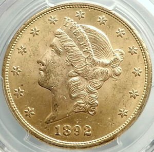 1892-S-UNITED-STATES-US-Liberty-Head-Gold-Double-Eagle-Coin-PCGS-MS-62-i75985