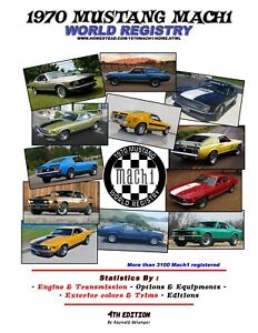 1970-MUSTANG-MACH1-WORLD-REGISTRY-BOOK-2019-PRODUCTION-SATISTICS-FORD