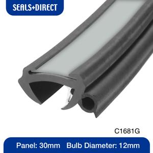 Details about Caravan Motorhome Window Rubber Seal - CS1681G Grey Insert -  Fits 30mm Panel