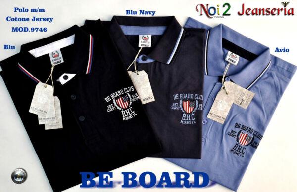 100% Vero Polo Mezza Manica Calibrata Be Board Cotone Jersey 3 Colori Mis. 3xl 4xl 5xl 6xl
