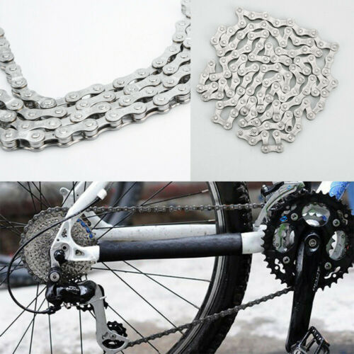 Silver Bicycle  Chain 6-7-8 Speed 116 Links   For MTB Mountain Road Steel Chain