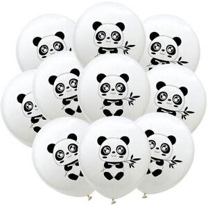 10er-Panda-Luftballons-Latex-Luftballons-Babyparty-Geburtstagsfeier-Dekorat-amp