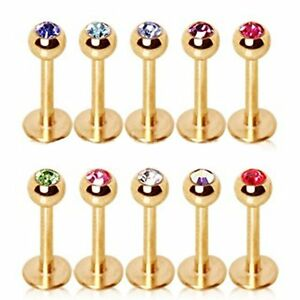 16G-14G-Gold-Plated-Labret-Monroe-Cartilage-Tragus-Earring-Stud-with-CZ-Gem-Ball