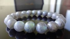 "Genuine Labradorite Bead Bracelet for Men Women Stretch 10mm - 7.5"" inch AAA+"