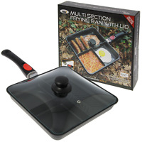 Ngt Multi Section Frying Pan Carp Fishing Camping With Glass Lid + Handle