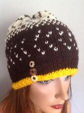 Hand Knit Beanie Hat Fair-Isle Deigner Fashion Multicolor Ski Snowboarding Hip I